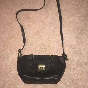 Purse black cross body and small handle